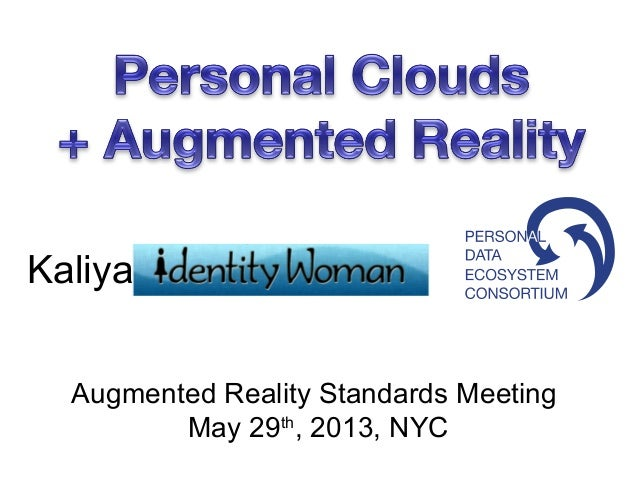 KaliyaAugmented Reality Standards MeetingMay 29th, 2013, NYC