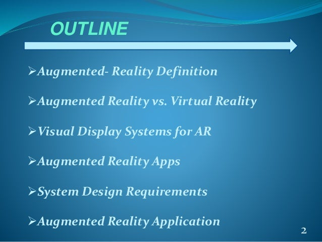 Augmented reality..