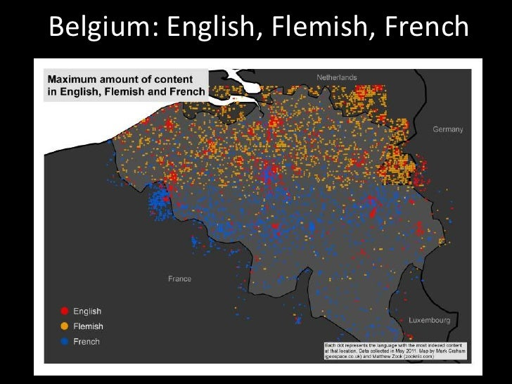 Belgium: English, Flemish, French<br />
