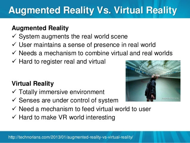 Virtual world versus real world
