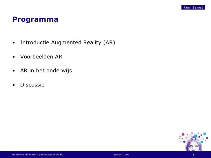 Augmented Reality Arno Coenders Slide 3