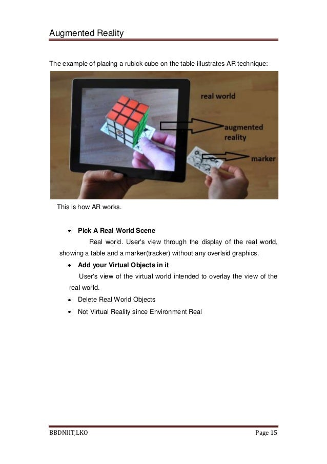 Thesis augmented reality