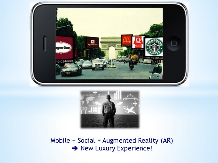 Mobile + Social + Augmented Reality (AR)       è New Luxury Experience!