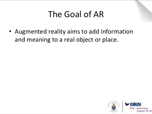 Augmented Reality - for libraries Slide 13