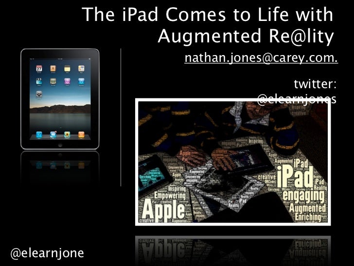 The iPad Comes to Life with                  Augmented Re@lity                    nathan.jones@carey.com.                 ...