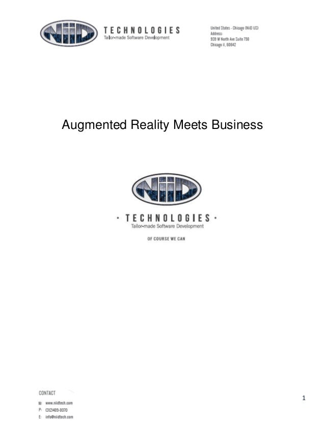 Augmented Reality Meets Business  1