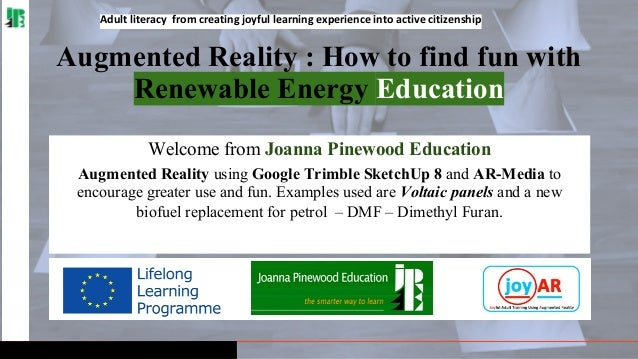 Adult literacy from creating joyful learning experience into active citizenship  Augmented Reality : How to find fun with ...