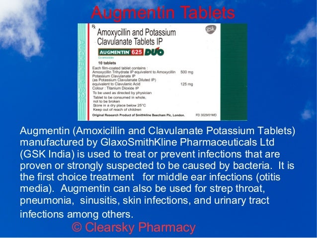 what is amoxicillin clavulanate potassium used for