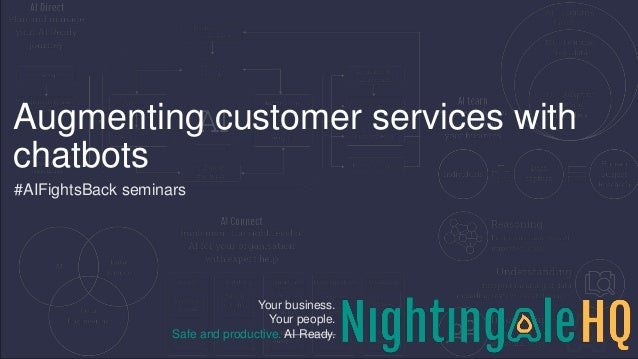 Your business. Your people. Safe and productive. AI Ready. Augmenting customer services with chatbots #AIFightsBack semina...
