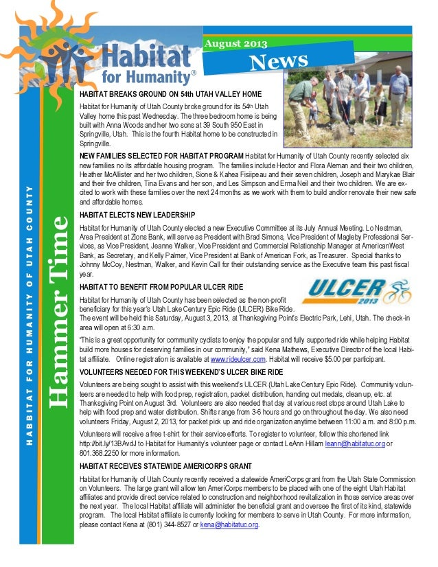 HammerTime HABBITATFORHUMANITYOFUTAHCOUNTY HABITAT BREAKS GROUND ON 54th UTAH VALLEY HOME Habitat for Humanity of Utah Cou...