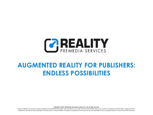 Copyright © 2009 - 2016 Reality Information Systems Pvt. Ltd. All rights reserved. Notice of Liability: This document cont...