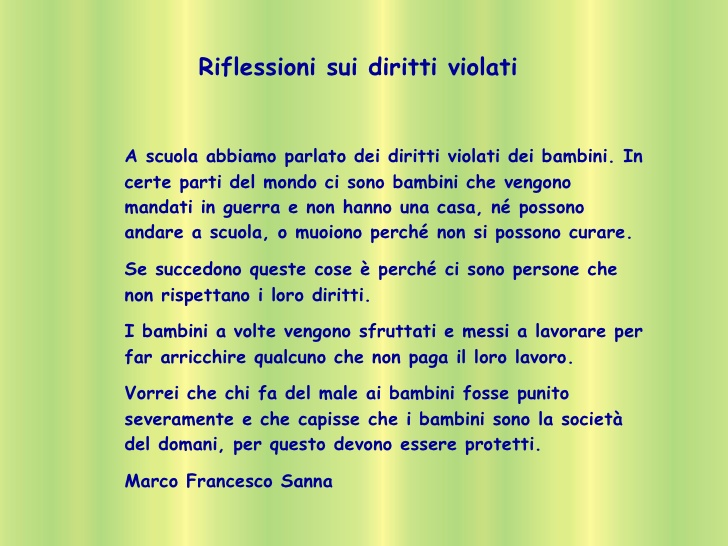 spesso Poesie Sui Diritti Dei Bambini In Rima IC56 » Regardsdefemmes VG15