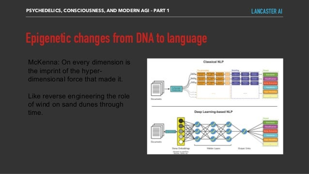 Epigenetic changes from DNA to language PSYCHEDELICS, CONSCIOUSNESS, AND MODERN AGI – PART 1 LANCASTER AI McKenna: On ever...