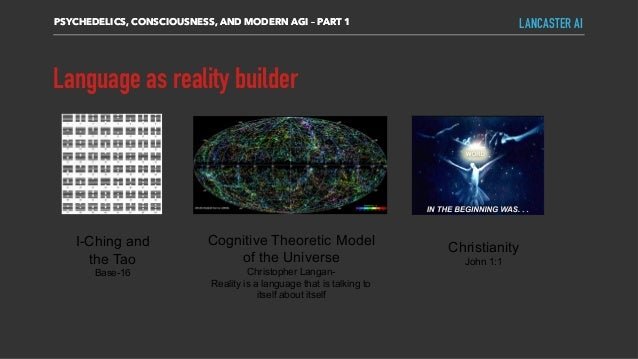Language as reality builder PSYCHEDELICS, CONSCIOUSNESS, AND MODERN AGI – PART 1 LANCASTER AI I-Ching and the Tao Base-16 ...