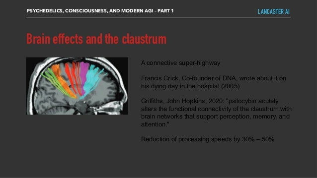 PSYCHEDELICS, CONSCIOUSNESS, AND MODERN AGI – PART 1 LANCASTER AI A connective super-highway Francis Crick, Co-founder of ...