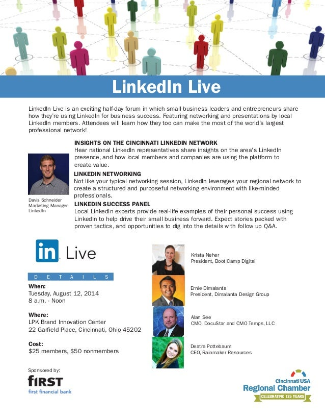 To register for this event, visit cincinnatichamber.com/events Sponsored by: LinkedIn Live is an exciting half-day forum i...