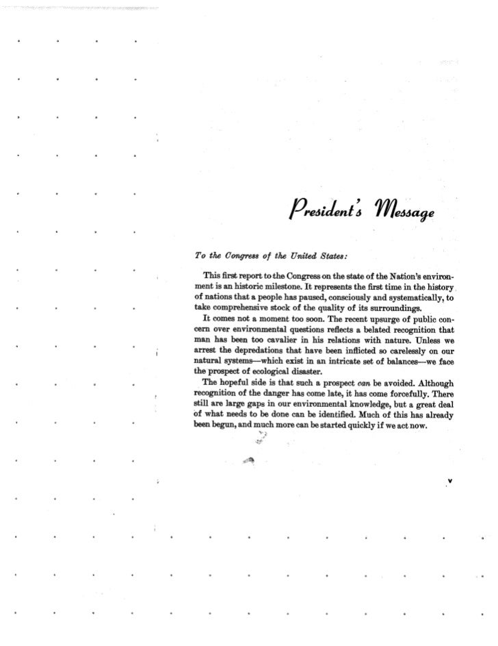 August 1970 Environmental Quality The First Annual Report Of Slide 3