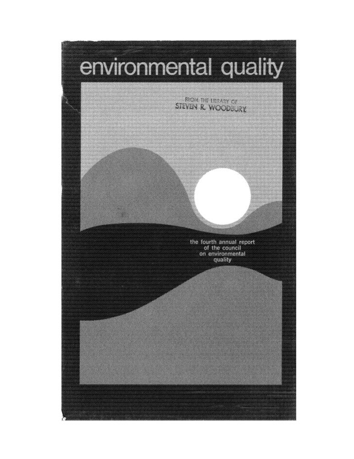 August 1973 The Third Annual Report Of The Council On Environmental Quality