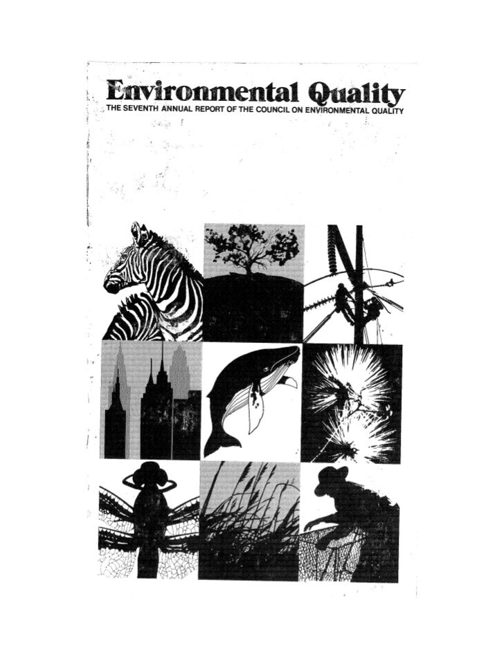 August 1976 The Seventh Annual Report Of The Council On Environmental Quality