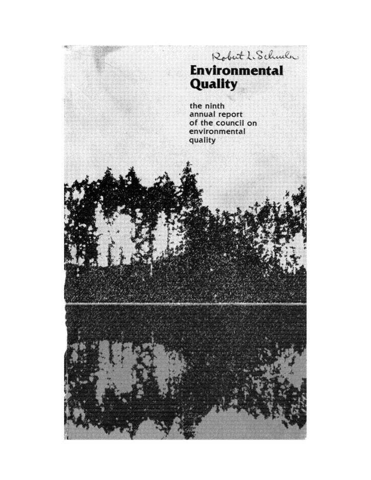 August 1978 The Ninth Annual Report Of The Council On Environmental Quality