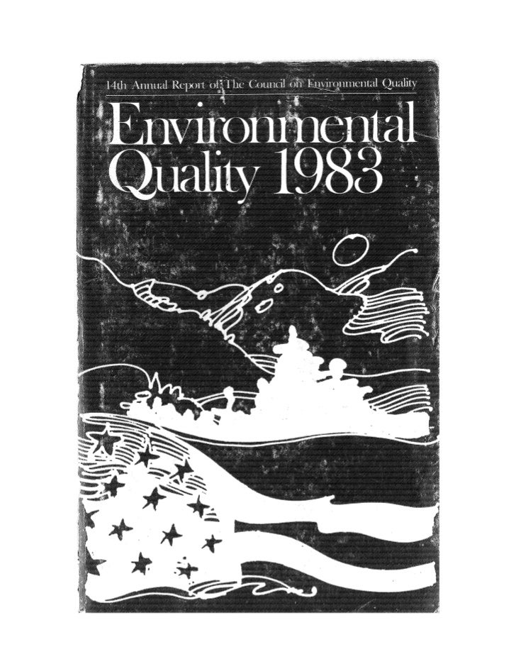 August 1983 The Fourteenth Anual Report Of The Council On Environmental Quality
