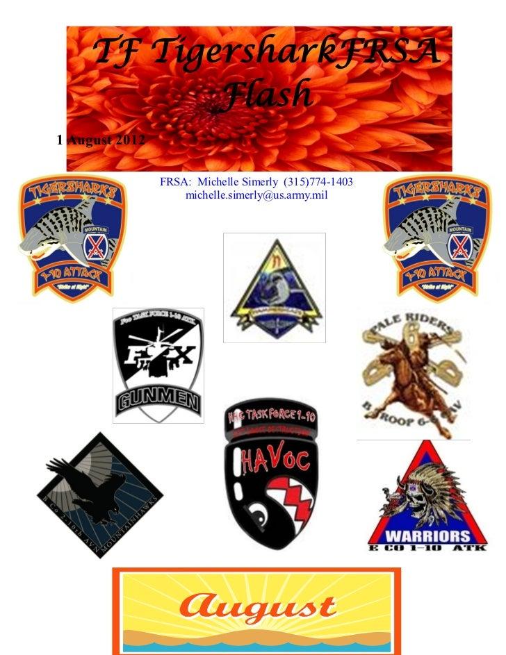 TF TigersharkFRSA           Flash1 August 2012                FRSA: Michelle Simerly (315)774-1403                    mich...