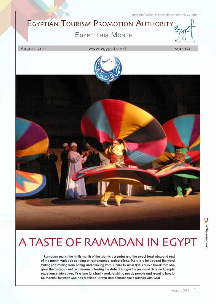 Egyptian Tourism Promotion Authority News letter  Egyptian tourism promotion authority                                E gy...