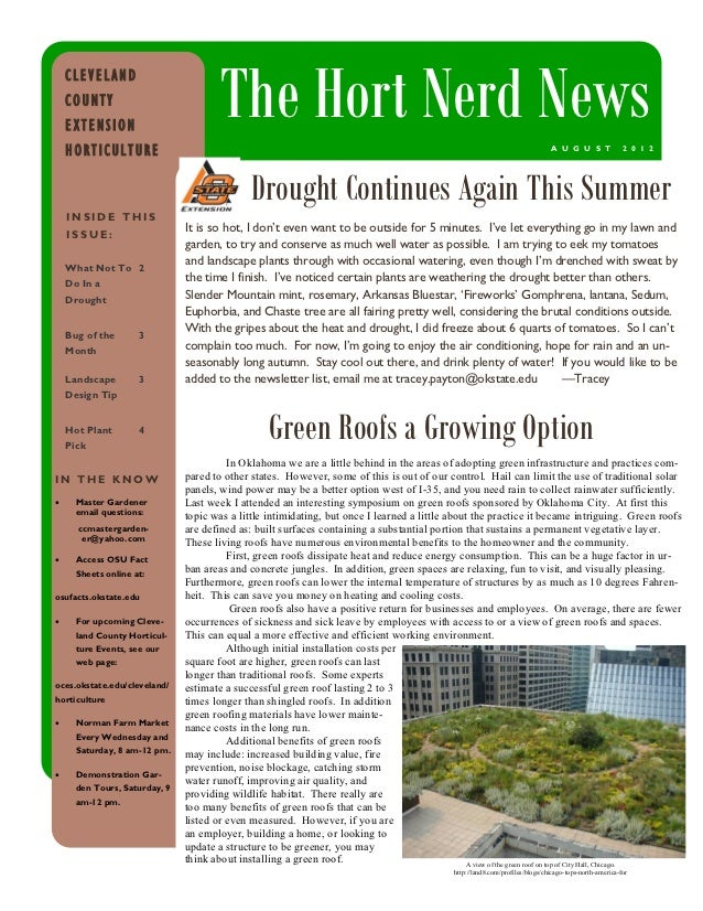CLEVELAND    COUNTY    EXTENSION                                       The Hort Nerd News    HORTICULTURE                 ...