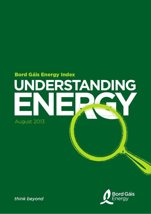 UNDERSTANDING ENERGYENERGYENERGYENERGY Bord Gáis Energy Index August 2013