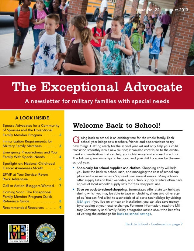 A LOOK INSIDE Spouse Advocates for a Community of Spouses and the Exceptional Family Member Program� � � � � � � � � � � ...