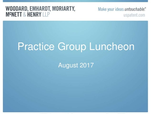 Practice Group Luncheon August 2017