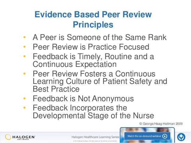 the many faces of peer review part 2 the manager s role rh slideshare net Peer Review Examples Peer Review Form Template