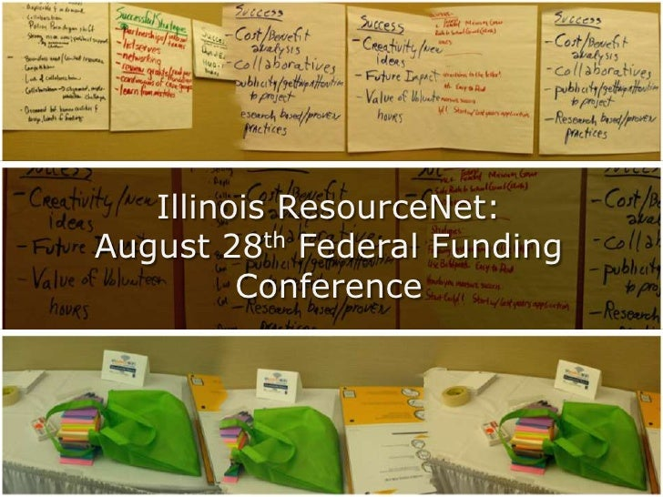 Illinois ResourceNet:<br />August 28th Federal Funding Conference <br />