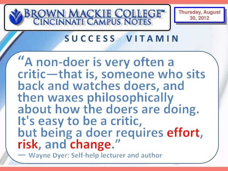 Thursday, August 30,                Thursday, August                       2012                     30, 2012SUCCESS   VITA...