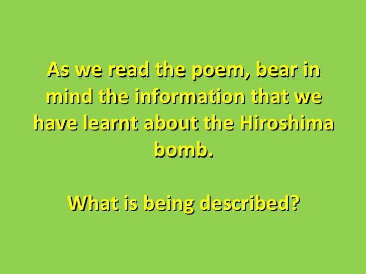 an analysis of the august 6th in 1945 The bombing of hiroshima - the morning of august 6, 1945 in hiroshima, japan hiroshima - hiroshima this documented discussion will address and include analysis, comparison, stylistic contrast, purposes, personae, and.