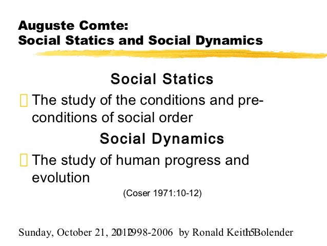 what is the difference between social statics and social dynamics