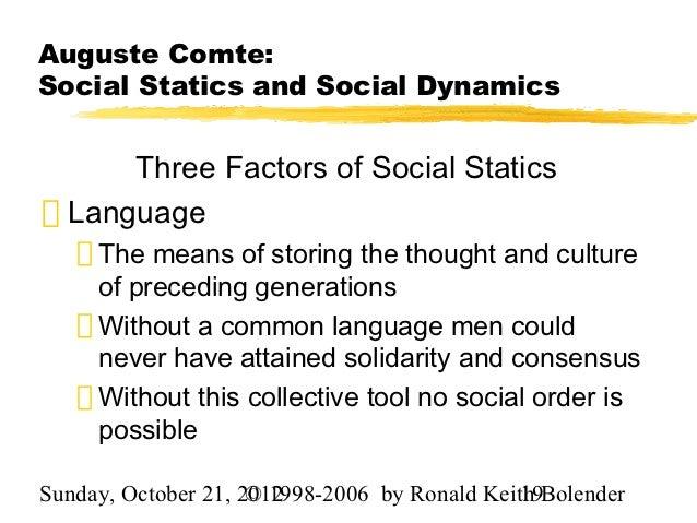 social statics definition sociology