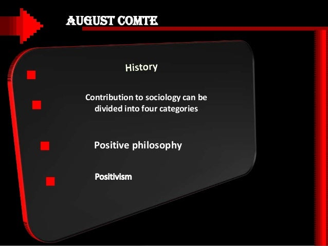 contribution of auguste comte Auguste comte contribution to sociology this was the part of the series where the term sociology was introduced and its meaning was explained he wrote about its various characteristics and ways of its betterment.