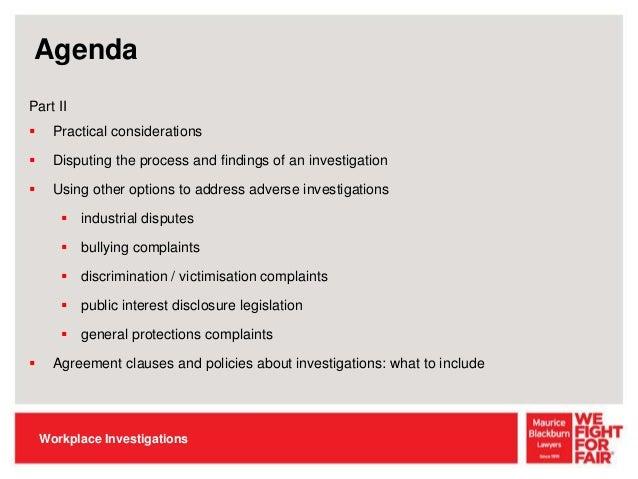 QLD EILS Seminar: Workplace Investigations