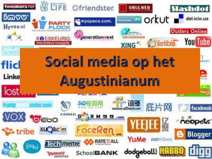 Social media op het Augustinianum<br />