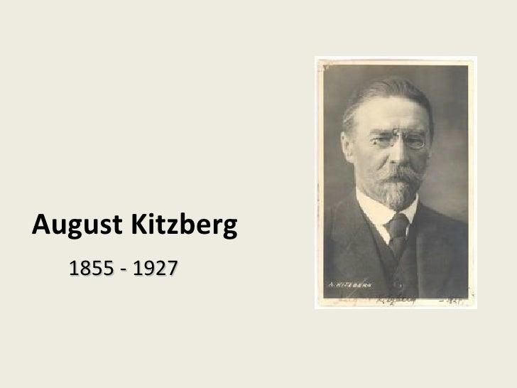 August Kitzberg 1855 - 1927