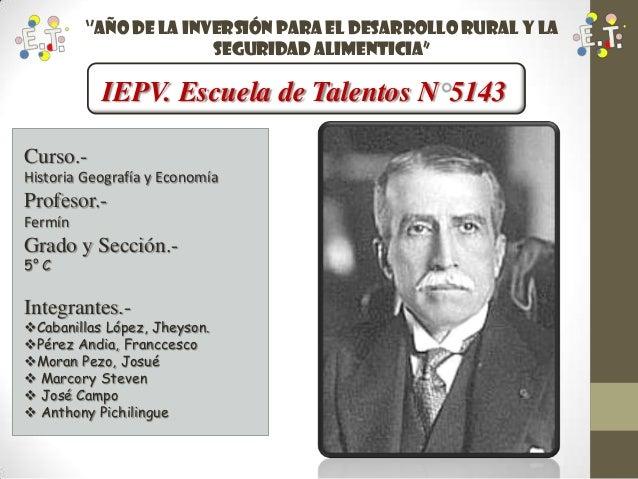 Augusto B Leguia Trabajo