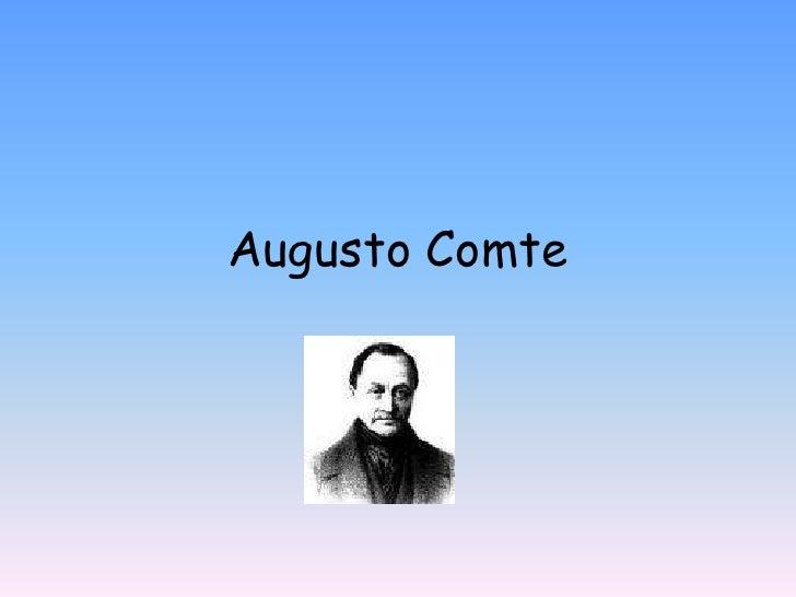 Augusto Comte<br />