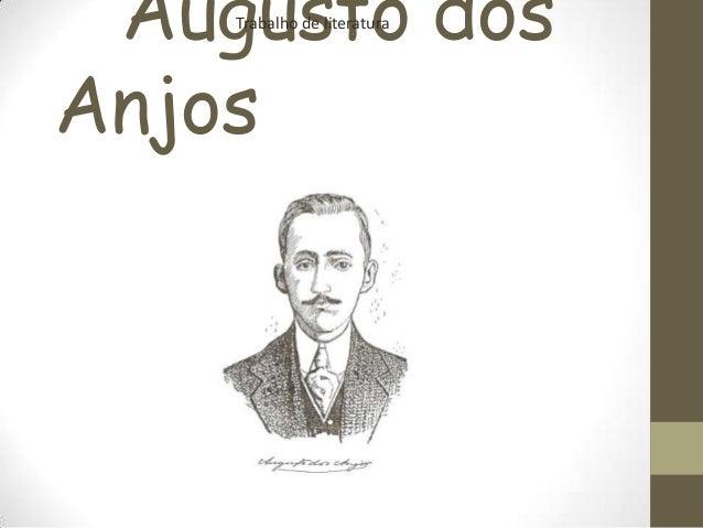 Augusto dos Anjos Trabalho de literatura