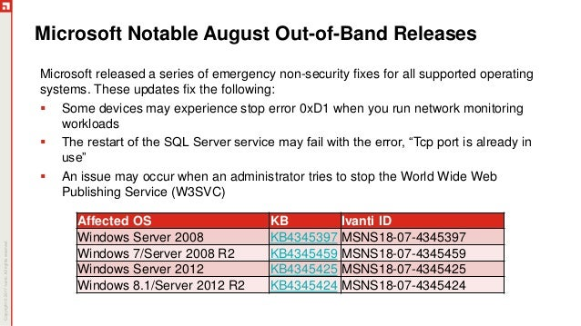 August Patch Tuesday Analysis