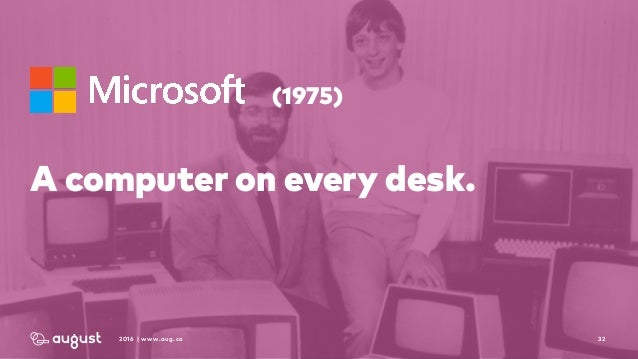 322016 | www.aug.co (1975) A computer on every desk.