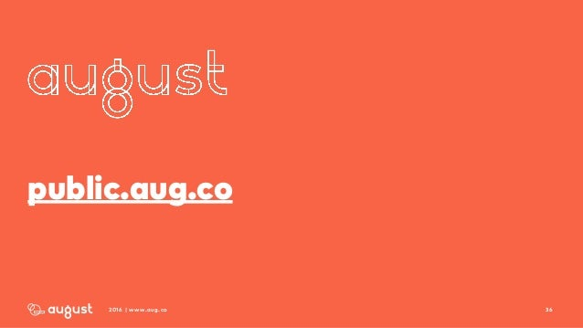 362016 | www.aug.co public.aug.co