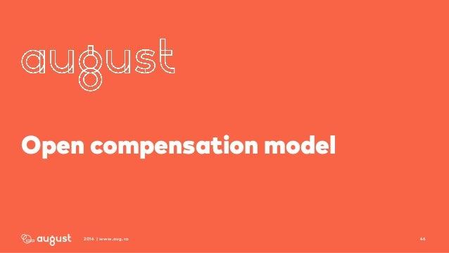 462016 | www.aug.co Open compensation model