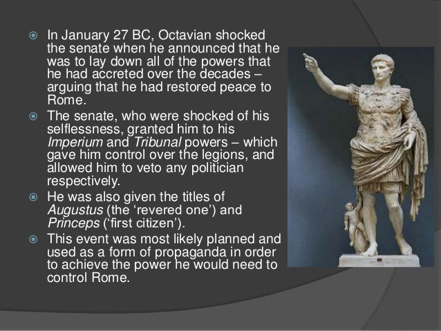 the rise of octavian At the time of julius caesar's assassination octavian was planning to take a  senior  from octavian to augustus: the death of the republic and the rise of  the.