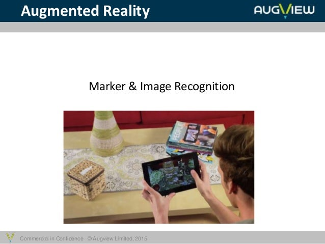 Commercial in Confidence © Augview Limited, 2015 Augmented Reality Marker & Image Recognition